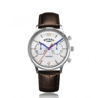 Rotary - Avenger, Stainless Steel Leather Quartz Watch, Size 38mm