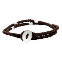 Son of Noa - Fabric - Stainless Steel - Bracelet, Size 37cm
