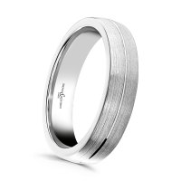 B and N - Platinum - Platinum Wedding Ring, Size U