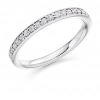 Guest and Philips - Platinum and Diamond Half Eternity Ring Size M