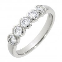 Guest and Philips - Platinum and Diamond 5 stone Half Eternity Ring