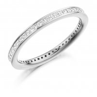 Guest and Philips - White Gold 18ct and Diamond Full Eternity Ring