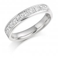 Guest and Philips - Platinum and Diamond Half Eternity Ring, Size O