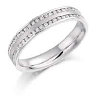 Guest and Philips - White Gold - 18ct and Diamond Full Eternity Ring, Size O