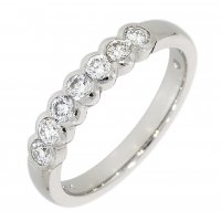 Guest and Philips - 18ct White Gold 7 Stone Half Eternity Ring