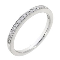 Guest and Philips - Platinum and Diamond Half Eternity Ring, Size M