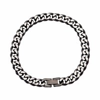 Unique - Stainless Steel Linked Curb Bracelet