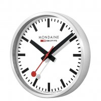 Mondaine - Stainless Steel - Wall Clock, Size 25cm