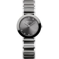 Bering - Ceramic Ladies, Swarovski Crystal Set, Stainless Steel and Ceramic Black Watch