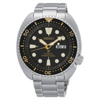 Seiko - Automatic Black Dial ?â????Turtle Case?â???? Silver Stainless Steel Diver?â????s Men?â????s Watch  - SRP775K1