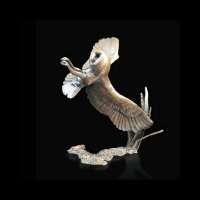 Richard Cooper - Barn Owl At Night , Bronze Ornament - 772