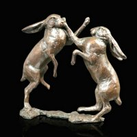 Richard Cooper - Hares Boxing, Bronze - Ornament, Size S - 982