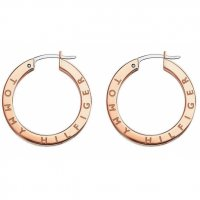 Tommy Hilfiger Rose Gold Plated Stainless Steel - Hoop Earrings