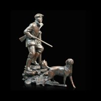 Richard Cooper - Large Shooter & Dog, Bronze  826 - 826