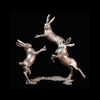 Richard Cooper - Medium Playing Hares, Ornament 800 - 800