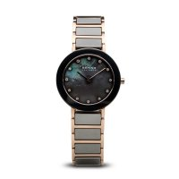 Bering - Ladies Ceramic, Stainless Steel and Rose Gold Plated Watch