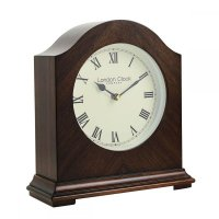 London Clock - Break Arch Wooden Mantel Clock