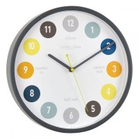 London Clock - Tell The Time Grey Wall Clock