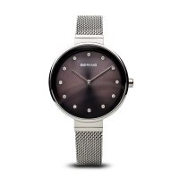 Bering - Classic Ladies, Stainless Steel, Brown Dial Watch