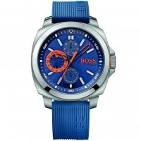 Hugo Boss - Rubber, Stainless Steel Blue Dial with Chronograph Watch