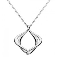 "Kit Heath - Infinity Alicia Silver 18"" Necklace"
