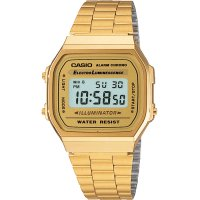 Casio - Classic Retro, Yellow Plating, Stainless Steel Digital Chronograph Watch