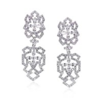 Carat London - Thyra, Cubic Zirconia Set, Sterling Silver Drop Earrings
