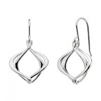 Kit Heath - Infinity Alicia, Sterling Silver Drop Earrings