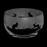 Animo Glass - Hare, Frosted Glass Bowl, Size 12 cm