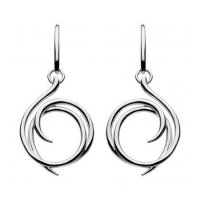 Kit Heath - Silver Twine Helix Drop Earrings