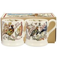 Emma Bridgewater - Game Birds, Set Of Two Pottery Half Pint Mugs Boxed