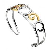 Kit Heath - Cosima, Sterling Silver and 18ct. Yellow Gold Plate Cuff Bangle