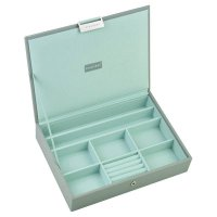 Stackers - Dove Grey Classic, Mint Lined, Lidded Stacker Jewellery Box