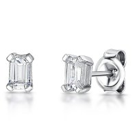 Jools - Cubic Zirconia Set, Sterling Silver Stud Earrings