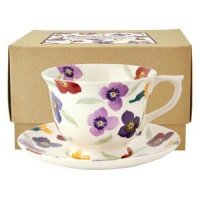Emma Bridgewater - Wallflower, Pottery Cup and Saucer, Size Large