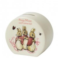 Enesco - Flopsy, Pottery Money Box, Size 10.0cm