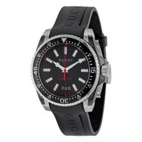 Gucci - Men's Dive, Stainless Steel and Rubber 40mm Watch