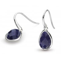 Kit Heath - Lapis Lazuli Set, Silver Coast Pebble Earrings