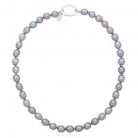 Claudia Bradby - Ines, Pearl Set, Sterling Silver Necklace, Size 42cm