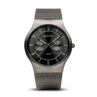 Bering - Men's Classic, Titanium and Stainless Steel Multifunction Watch