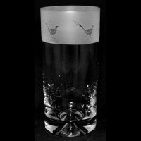 Animo Glass - Pheasant, Frosted Glass Highball Tumbler