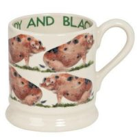 Emma Bridgewater - Pottery Sandy and Black 1/2 Pint Mug