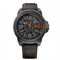 Hugo Boss - Boss Orange, New York, Black Ion-Plated with Fabric Strap Watch