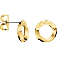 Calvin Klein - Beauty, Stainless Steel and Yellow Gold Plated Circle Stud Earrings