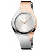 Calvin Klein - Senses, Two Tone, Silver Dial Watch