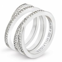 Tommy Hilfiger - Cubic Zirconia Set, Stainless Steel Ring, Size P