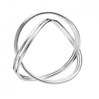 Georg Jensen - Infinity, Silver Bangle, Size Large