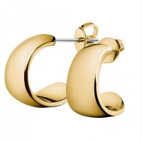 Calvin Klein - Informal, Stainless Steel and Yellow Gold Plate Earrings