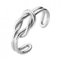 Georg Jensen - Love Knot, Silver Bangle, Size Medium