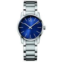 Calvin Klein - Ladies' City , Stainless Steel Blue Dial Watch